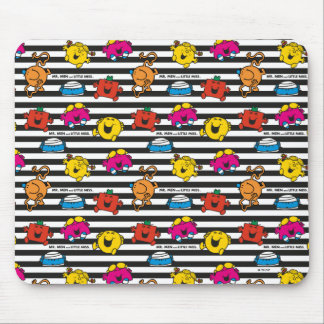Mr Men & Little Miss | Stripes Pattern Mouse Pad