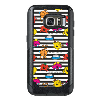 Mr Men & Little Miss | Stripes Pattern OtterBox Samsung Galaxy S7 Case