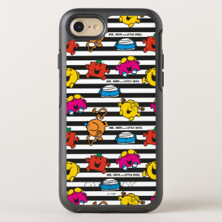 Mr Men & Little Miss | Stripes Pattern OtterBox Symmetry iPhone 8/7 Case