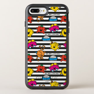 Mr Men & Little Miss | Stripes Pattern OtterBox Symmetry iPhone 8 Plus/7 Plus Case