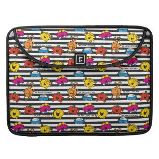 Mr Men & Little Miss | Stripes Pattern Sleeve For MacBooks