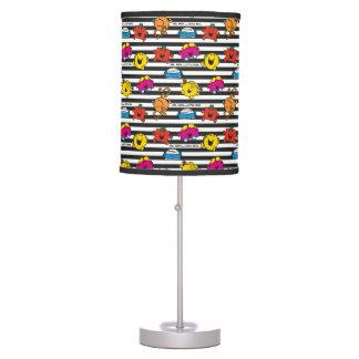 Mr Men & Little Miss | Stripes Pattern Table Lamp