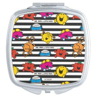 Mr Men & Little Miss | Stripes Pattern Travel Mirror