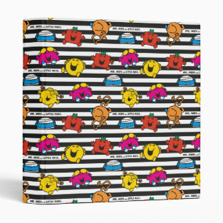 Mr Men & Little Miss | Stripes Pattern Vinyl Binder