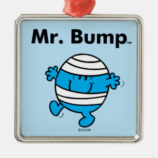 Mr. Men | Mr. Bump is a Clutz Metal Ornament