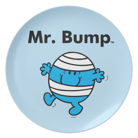 Mr. Men | Mr. Bump is a Clutz Plate