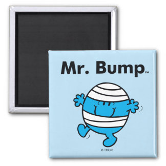 Mr. Men | Mr. Bump is a Clutz Square Magnet