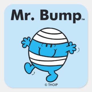 Mr. Men | Mr. Bump is a Clutz Square Sticker