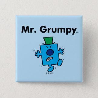 Mr. Men   Mr. Grumpy is a Grump 2 Inch Square Button