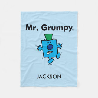 Mr. Men | Mr. Grumpy is a Grump Fleece Blanket