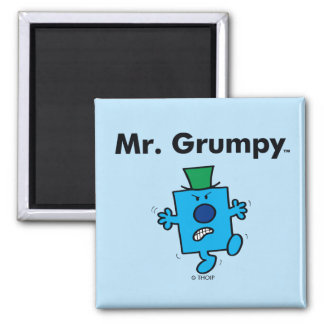 Mr. Men | Mr. Grumpy is a Grump Square Magnet