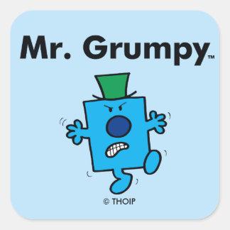 Mr. Men | Mr. Grumpy is a Grump Square Sticker