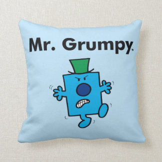 Mr. Men | Mr. Grumpy is a Grump Throw Pillow