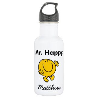 Mr. Men | Mr. Happy Is Always Happy 532 Ml Water Bottle