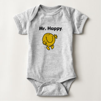 Mr. Men | Mr. Happy Is Always Happy Baby Bodysuit
