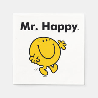 Mr. Men | Mr. Happy Is Always Happy Disposable Napkins