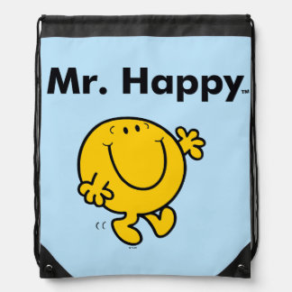 Mr. Men | Mr. Happy Is Always Happy Drawstring Bag