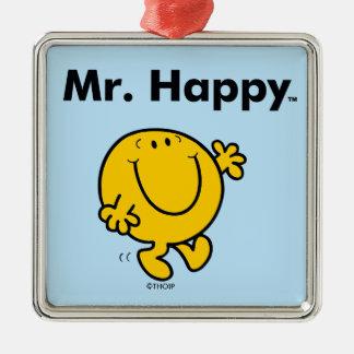 Mr. Men | Mr. Happy Is Always Happy Metal Ornament