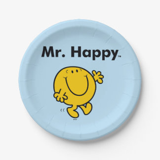 Mr. Men | Mr. Happy Is Always Happy Paper Plate