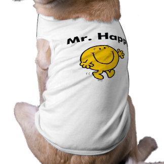 Mr. Men   Mr. Happy Is Always Happy Pet T-shirt