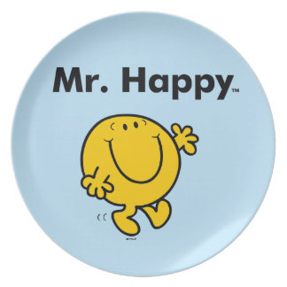 Mr. Men | Mr. Happy Is Always Happy Plate