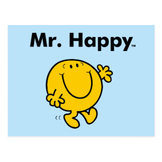 Mr. Men | Mr. Happy Is Always Happy Postcard