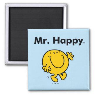 Mr. Men | Mr. Happy Is Always Happy Square Magnet