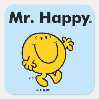Mr. Men | Mr. Happy Is Always Happy Square Sticker