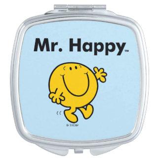 Mr. Men | Mr. Happy Is Always Happy Travel Mirror