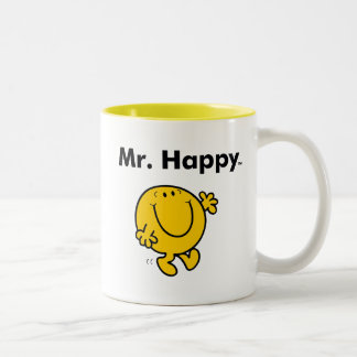 Mr. Men | Mr. Happy Is Always Happy Two-Tone Coffee Mug