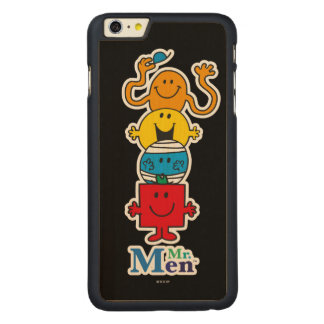 Mr. Men | Mr. Men Standing Tall Carved Maple iPhone 6 Plus Case