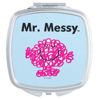 Mr. Men | Mr. Messy Is Cute, But Messy Compact Mirror