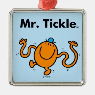 Mr. Men | Mr. Tickle Will Tickle Silver-Colored Square Ornament