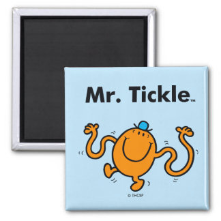 Mr. Men | Mr. Tickle Will Tickle Square Magnet