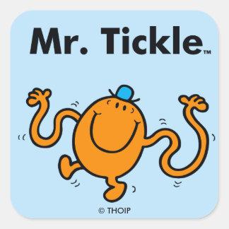 Mr. Men | Mr. Tickle Will Tickle Square Sticker