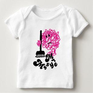 Mr. Messy | Broom & Name Baby T-Shirt
