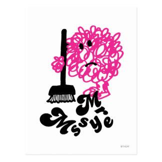 Mr. Messy | Broom & Name Postcard