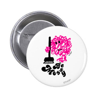 Mr. Messy Cleaning Up 2 Inch Round Button