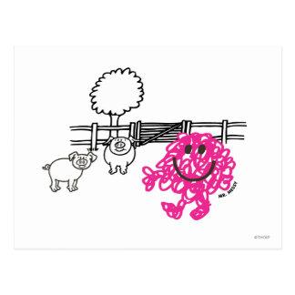 Mr. Messy & Two Pigs Postcard