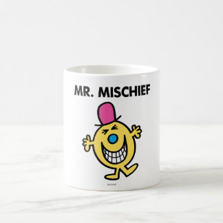 Mr. Mischief   Smiling Gleefully Classic White Coffee Mug