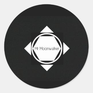 Mr Moonwalker Glossy sticker