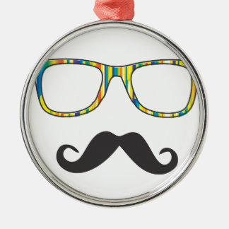 Mr Moustache Hipster Christmas Tree Ornaments
