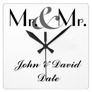 Mr. & Mr. Custom GAY MEN'S Clock Gift