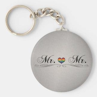 Mr. & Mr. Gay Design Keychain