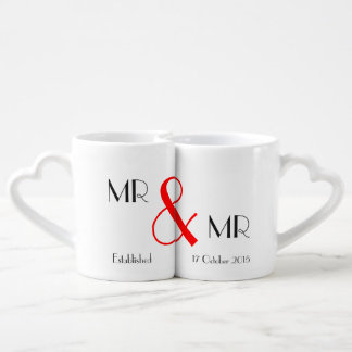Mr & Mr Gay Wedding Gift Coffee Mug Set