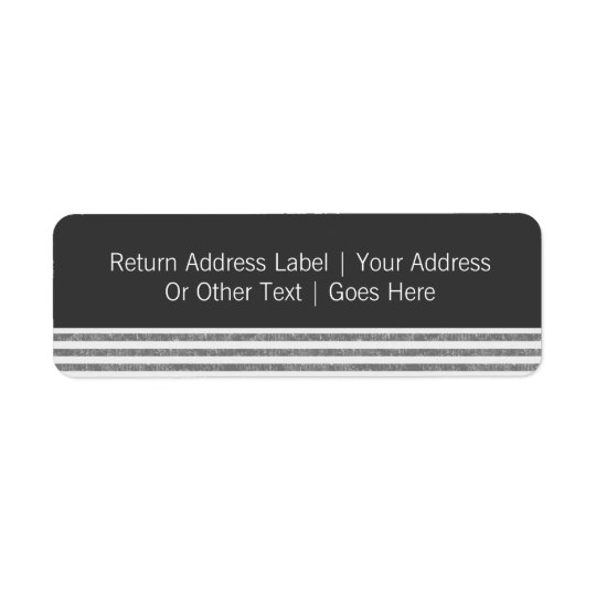 Mr & Mr Grey Text Template Personalized Return Address Label