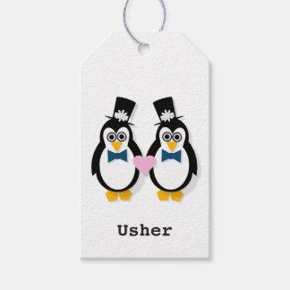 Mr & Mr Penguin Wedding Gift Tags (customisable)