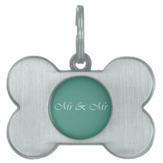 Mr & Mr Typography Pet ID Tag