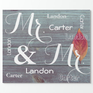 Mr & Mr Wedding/Anniversary Personalized Names