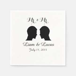 Mr. & Mr. Wedding Napkins Disposable Napkins